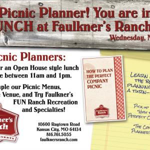 Company Picnics at Faulkner's Ranch