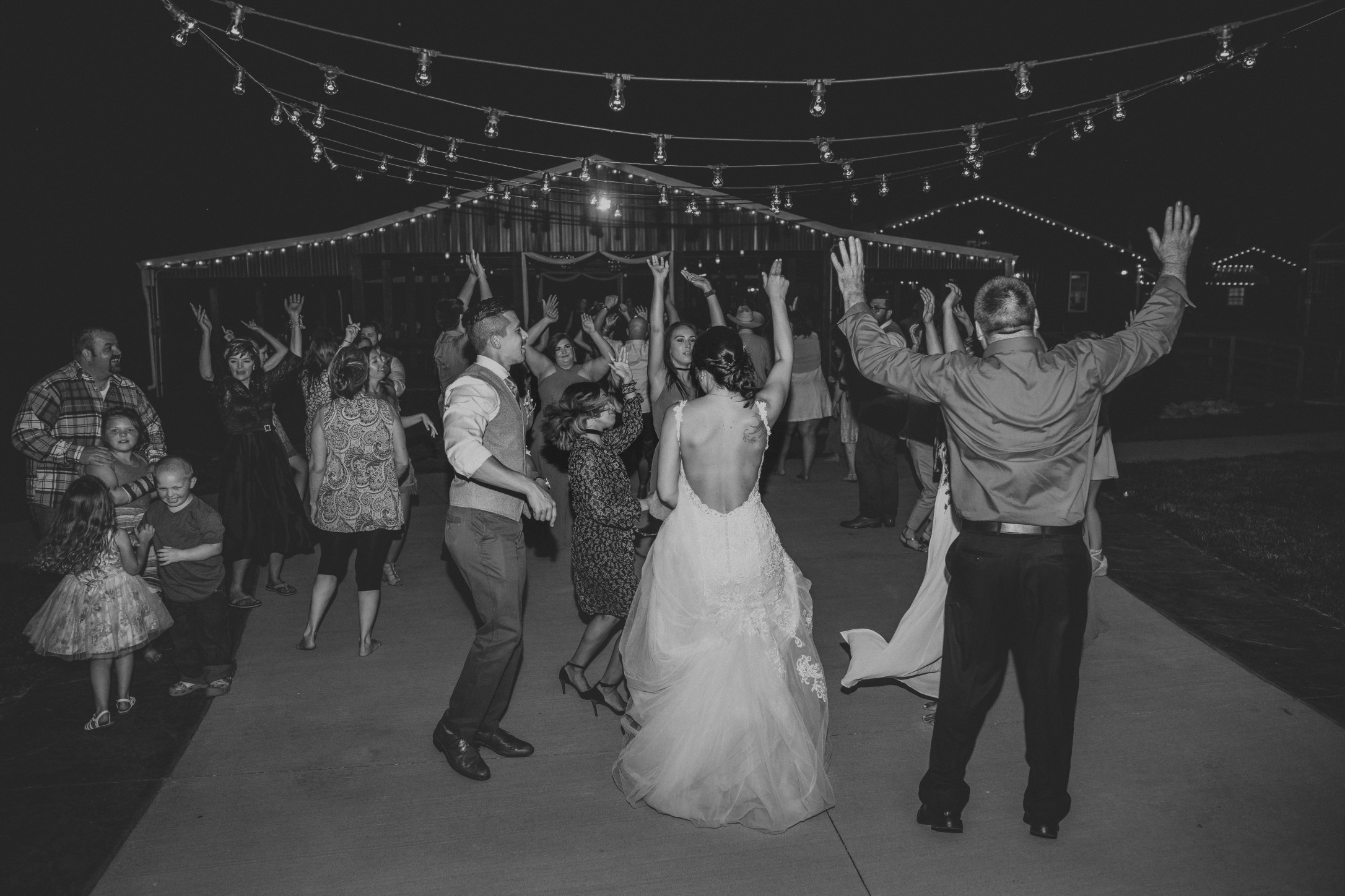 dancing at wedding reception venue - Faulkner's Ranch