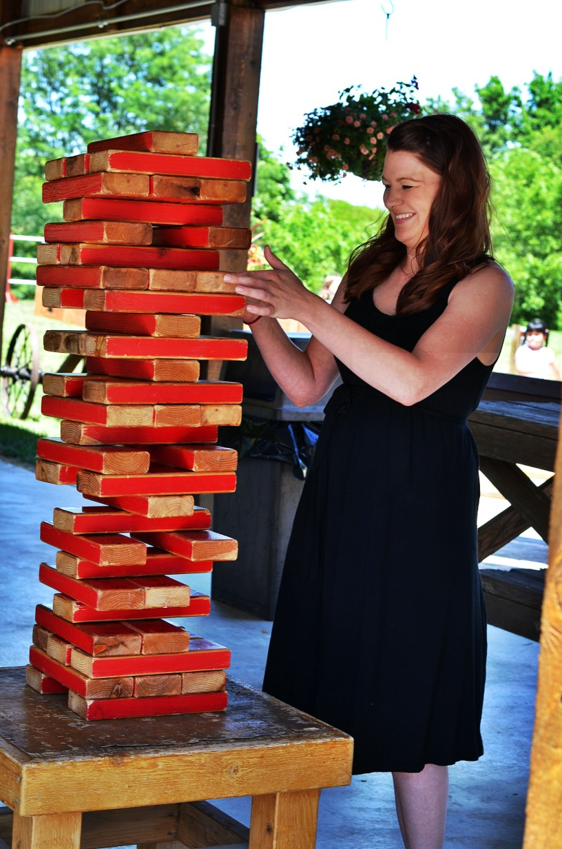 large outdoor jenga game