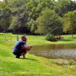 fishing activity at Faulkner's Ranch company picnics