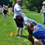 Team building games for Encompass Company Picnic at Faulkner's Ranch