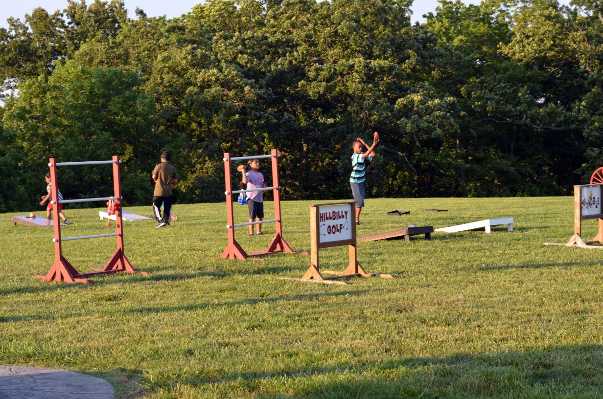 outdoor games at Faulkner's Ranch
