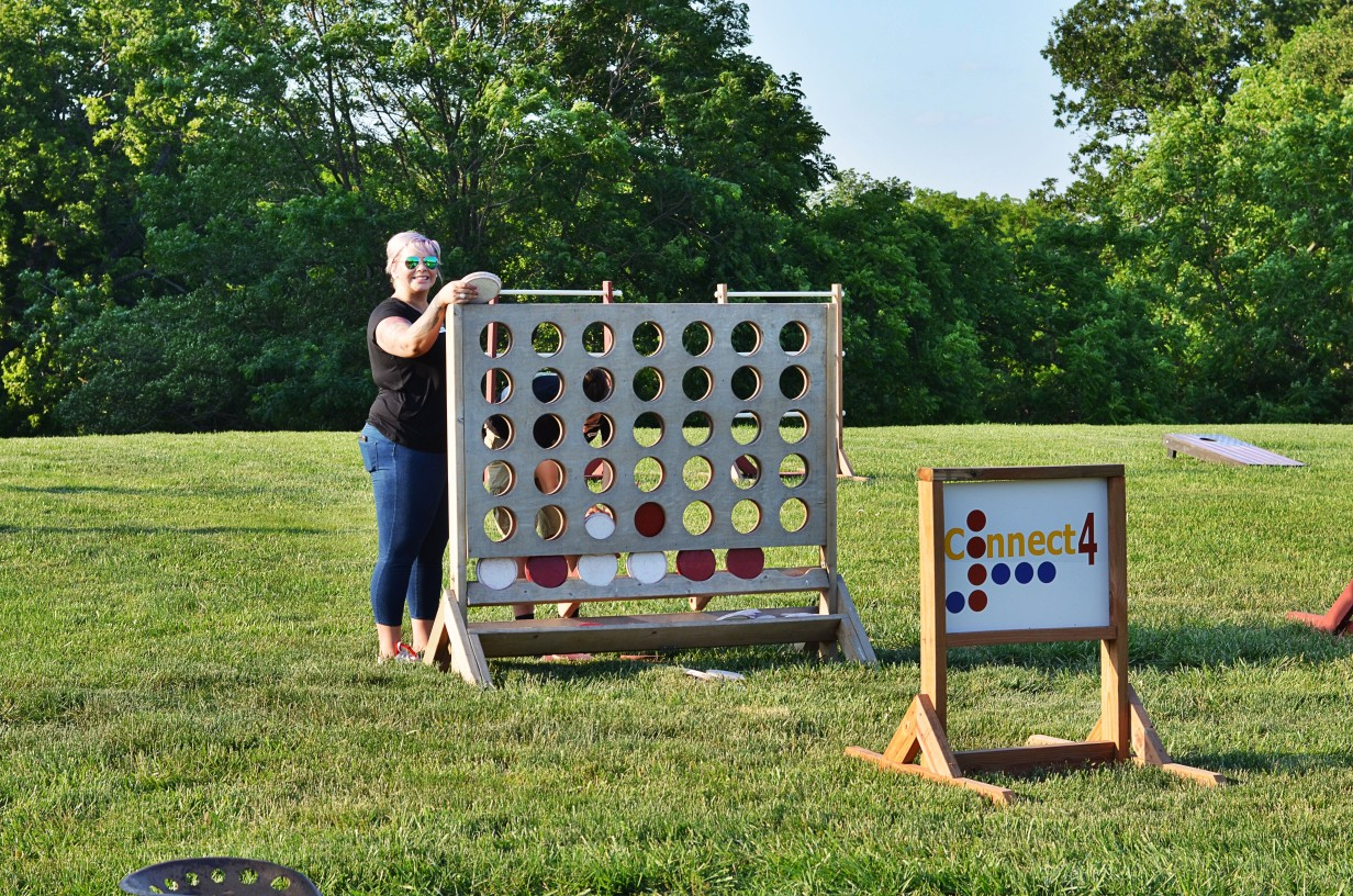 large checkers outdoor game