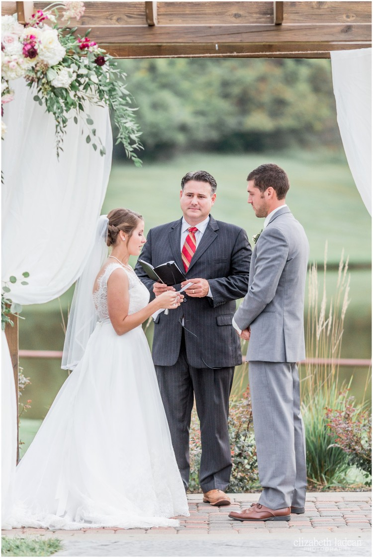 Bride and Groom saying wedding vows