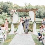 trellis for outdoor wedding at Faulkner's Ranch