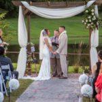 outdoor wedding setup at Faulkner's Ranch