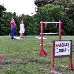 """ladder golf or """"hillbilly golf"""" activity at Faulkner's Ranch"""