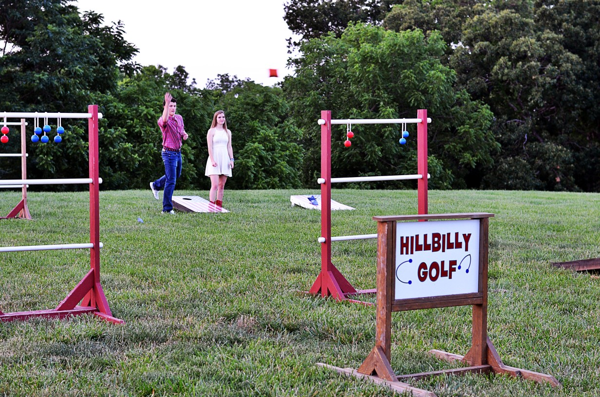 "ladder golf or ""hillbilly golf"" activity at Faulkner's Ranch"