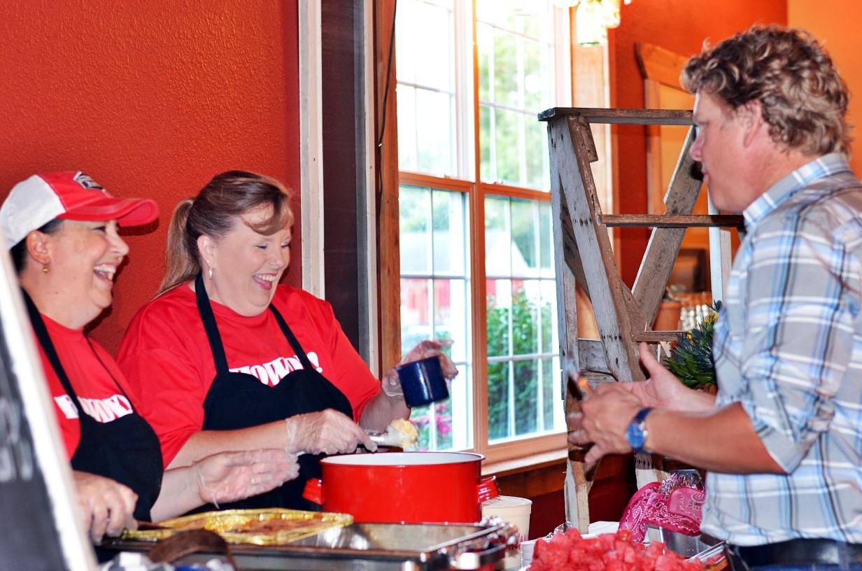 refreshments at company picnic event at Faulkner's Ranch